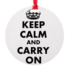 Keep calm and carry on   Personalized Ornament