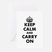 Keep calm and carry on | Personalized Greeting Car