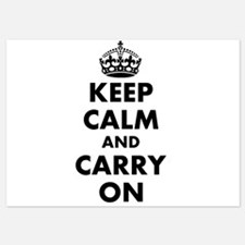 Keep calm and carry on | Personalized Invitations