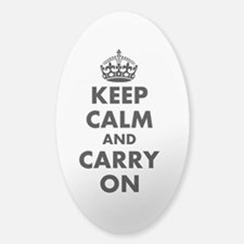 Keep Calm And Carry On | Personalized Oval Decal