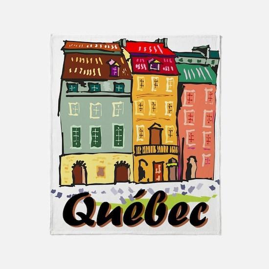 Quebec City Throw Blanket