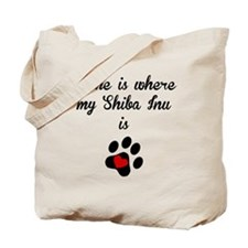Home Is Where My Shiba Inu Is Tote Bag
