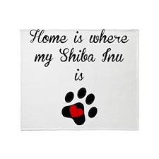 Home Is Where My Shiba Inu Is Throw Blanket