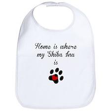 Home Is Where My Shiba Inu Is Bib