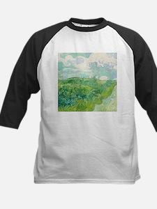 Green Wheat Fields by Van Gogh Baseball Jersey