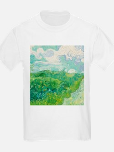 Green Wheat Fields by Van Gogh T-Shirt