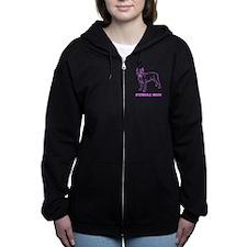 Pitbull Mom Women's Zip Hoodie