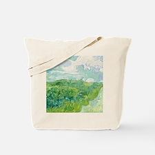 Green Wheat Fields by Van Gogh Tote Bag
