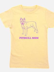 Pitbull Mom Girl's Tee