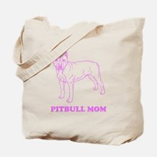 Pitbull Mom Tote Bag For Dog Lover