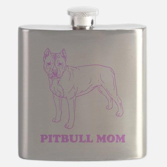 Pitbull Mom Flask