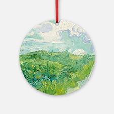 Green Wheat Fields by Van Gogh Ornament (Round)