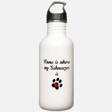 Home Is Where My Schnauzer Is Water Bottle