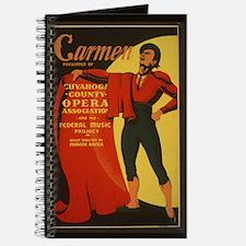 Vintage Carmen Poster Writing Journal