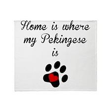 Home Is Where My Pekingese Is Throw Blanket