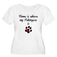 Home Is Where My Pekingese Is Plus Size T-Shirt
