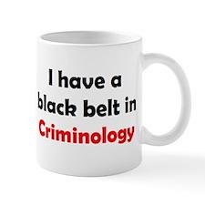 criminology black belt Mug