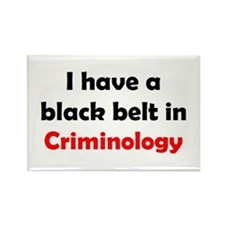 criminology black belt Rectangle Magnet