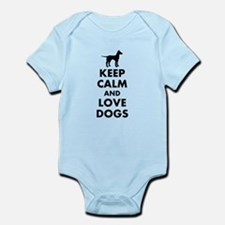 Keep calm and love dogs Body Suit