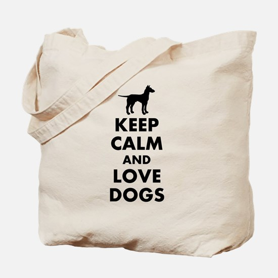 Keep calm and love dogs Tote Bag