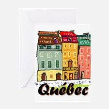 Quebec city Greeting Cards