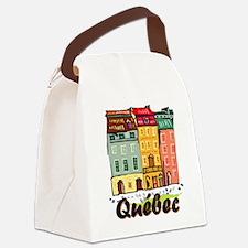 Quebec city Canvas Lunch Bag