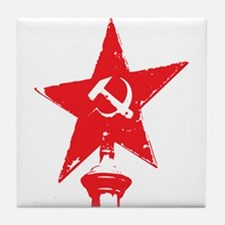 Hammer And Sickle Tile Coaster