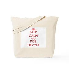 Keep Calm and Kiss Devyn Tote Bag