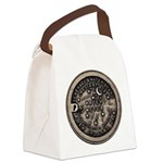 watermeterlidlsepia.png Canvas Lunch Bag