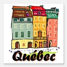 "Quebec city Square Car Magnet 3"" x 3"""
