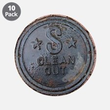 """sewerclenout.png 3.5"""" Button (10 pack)"""