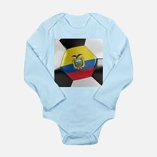 Ecuador Soccer Ball Long Sleeve Infant Bodysuit