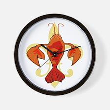 Fleur De Craw Wall Clock