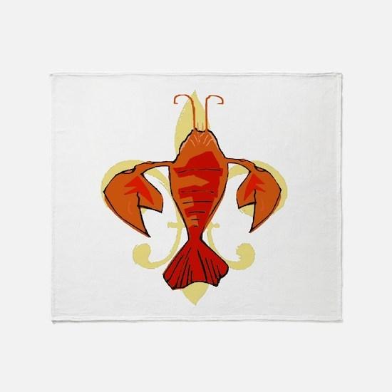 Fleur De Craw Throw Blanket