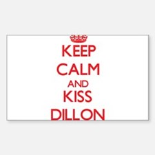 Keep Calm and Kiss Dillon Decal