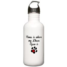 Home Is Where My Lhasa Apso Is Water Bottle