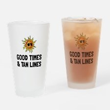 Good Times Tan Lines Drinking Glass