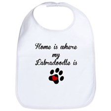 Home Is Where My Labradoodle Is Bib