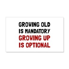 Growing Up Optional Wall Decal