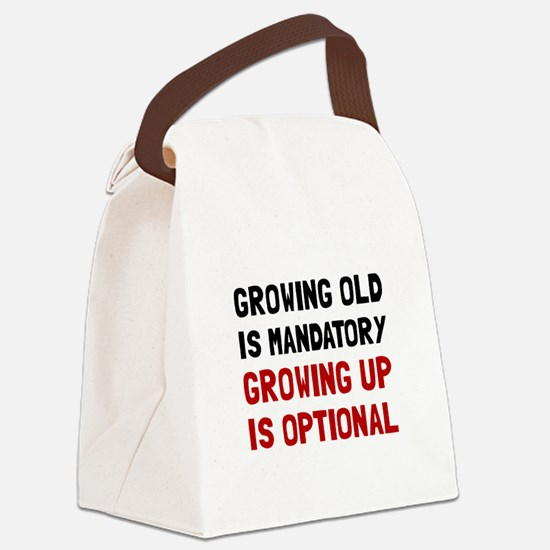 Growing Up Optional Canvas Lunch Bag