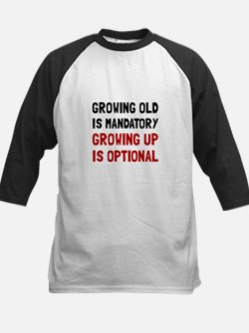 Growing Up Optional Baseball Jersey
