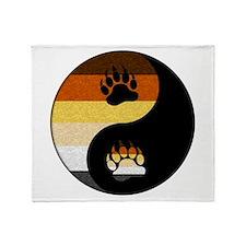 Bear Yin and Yang Throw Blanket
