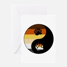 Bear Yin and Yang Greeting Card