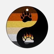 Bear Yin and Yang Ornament (Round)