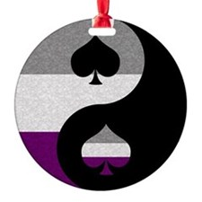 Asexual Yin and Yang Ornament