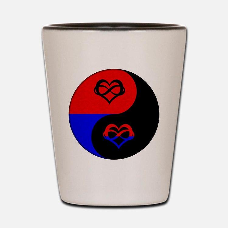 Polyamorous Yin and Yang Shot Glass