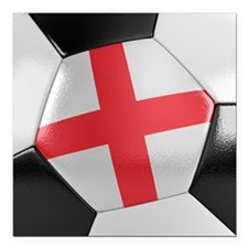 "England Soccer Ball Square Car Magnet 3"" x 3"""