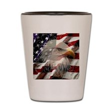 American Eagle Flag Shot Glass