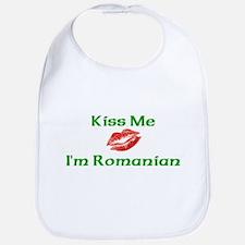 Kiss Me I'm Romanian Bib