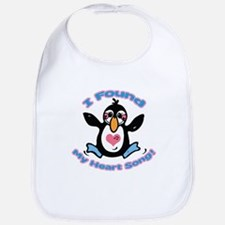 Cute Heart Song Penguin Bib